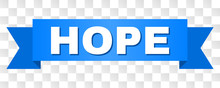 HOPE Text On A Ribbon. Designe...