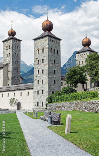 Papel de parede Stockalperschloss, Brig, Schweiz