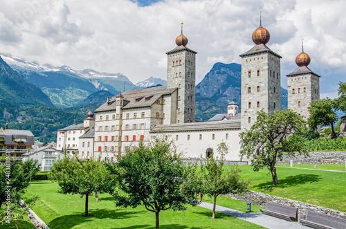 Cuadros en Lienzo Stockalperschloss, Brig, Schweiz