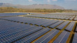 Solar panels in aerial view, Solar photovoltaic panels and solar photovoltaic power generation.