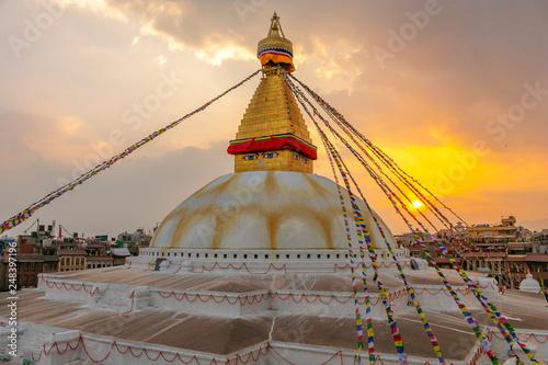 Obraz na płótnie boudhanath stupa