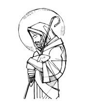 Jesus Christ Good Shepherd Ink...