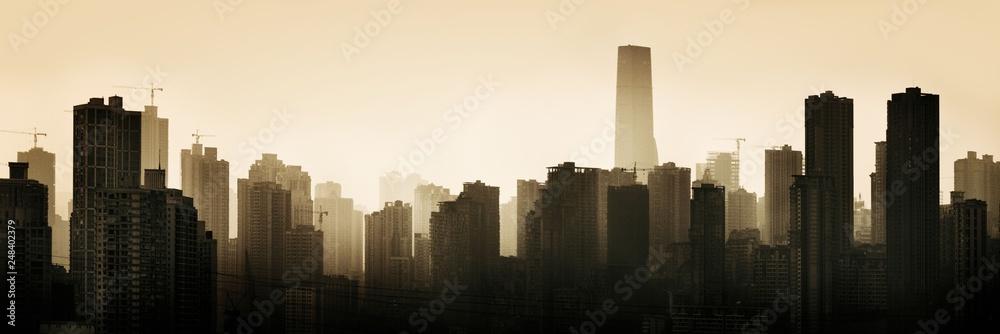 Fototapeta Chongqing urban architecture