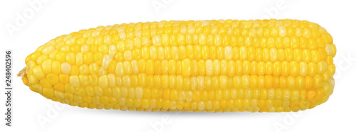 Obraz Sweet corn isolated on white clipping path - fototapety do salonu