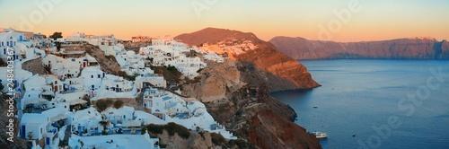 Fototapeta Santorini skyline sunset obraz