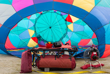 A Hot Air Balloon Is Filling I...