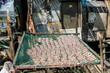 Fischerhüttte Fisch wird einer getrocknet