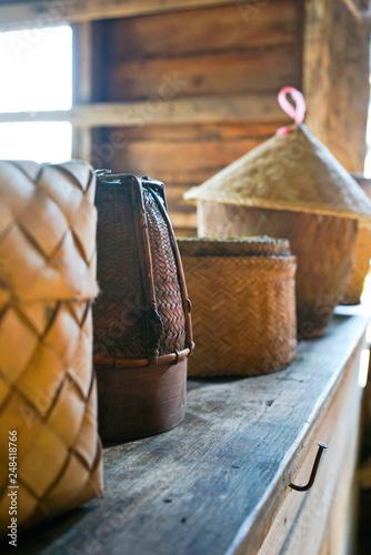 Photo  Paniers pour cuisiner dans l'ancien Siam