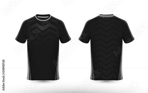 Fototapeta Black and white layout e-sport t-shirt design template obraz na płótnie