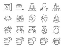 Pottery Line Icon Set. Include...