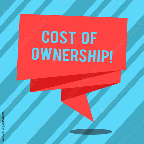 Fotografie, Obraz  Text sign showing Cost Of Ownership