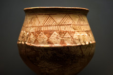 Ancient Greek Vase, Terracotta Pot From Excavations In Greece Close-up