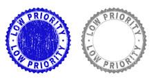 Grunge LOW PRIORITY Stamp Seal...