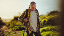 Senior Man On A Hiking Trip