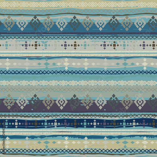 Photo Ethnic boho seamless pattern