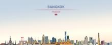 Vector Illustration Of Bangkok...