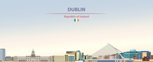 Vector Illustration Of Dublin ...
