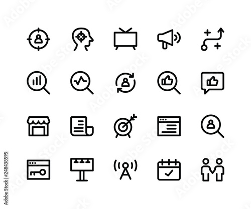 Photo  Simple Set of Marketing Related Vector Line Icons