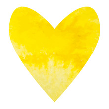 Watercolor Yellow Heart