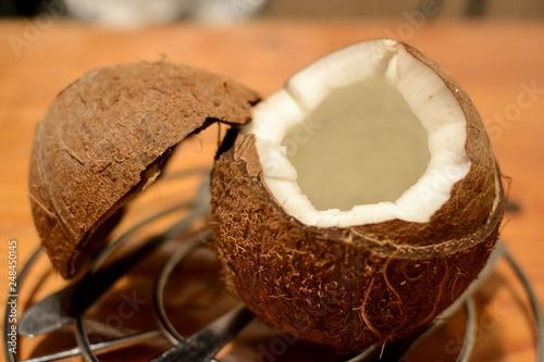 Photo  Une noix de coco.