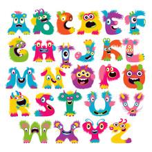 Cartoon Children Cute And Funny Monster Alphabet