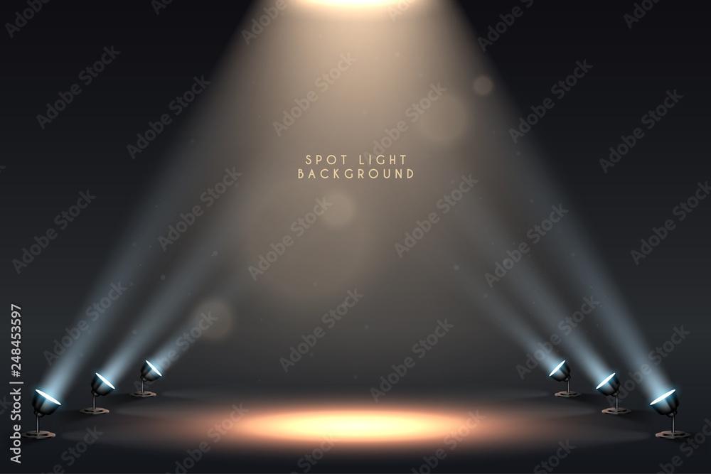 Fototapeta Spot light background