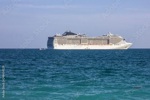 Fényképezés  Cruse liner Splendida in sea, United Arab Emirates cruise, MSC vessel
