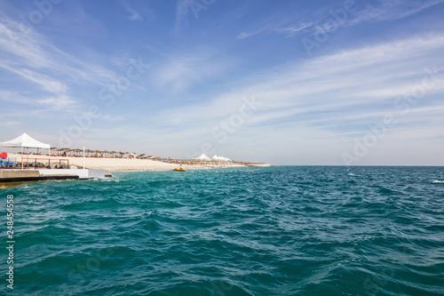 Poster Abou Dabi Beach in Abu Dhabi, Sir Bani Yas island, UAE