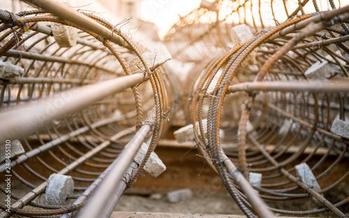 Valokuva  heap of rebar steel