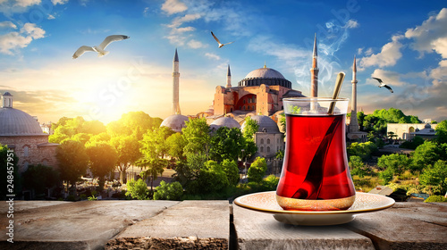 Photo  Tea and Hagia Sophia