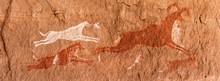Prehistoric Petroglyphs - Rock Art - Akakus (Acacus) Mountains, Sahara, Libya