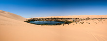 Ubari Oasi In The Sahara Deser...