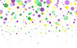 Mardi Gras carnival circles confetti background