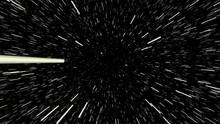 Stars Space Hyper Zoom Super Impose Black Background -4k