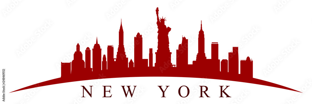 Obraz New York city silhouette - vector fototapeta, plakat