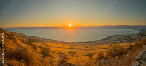 Valokuvatapetti Sea of Galilee (the Kinneret lake), at sunset