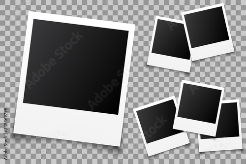 Fotografie, Obraz Set empty photo frame - vector for stock