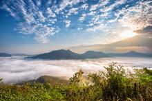 Sea Of Fog Over Phu Thok Mount...