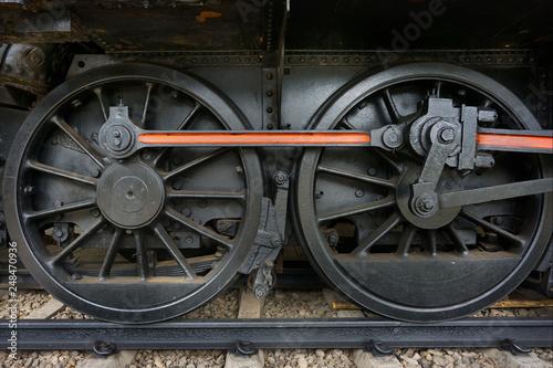 steam locomotive wheels - Buy this stock photo and explore