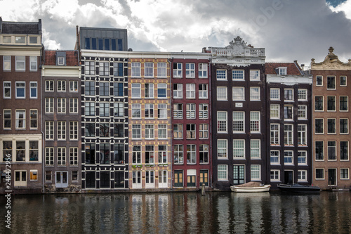 Amsterdam buildings houses architecture canal Holland river Wallpaper Mural