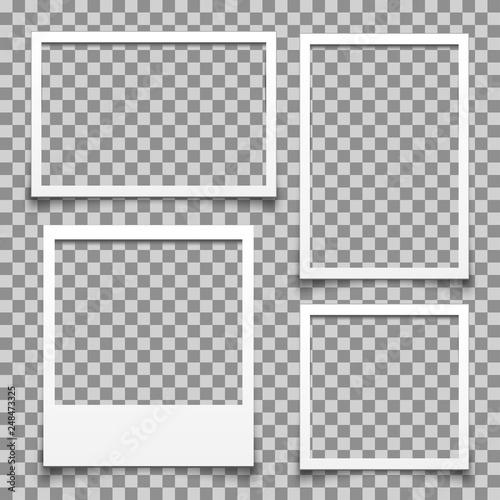Obraz na plátně  Empty white photo frame - for stock vector