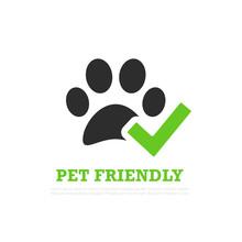 Pet Friendly Vector Logo