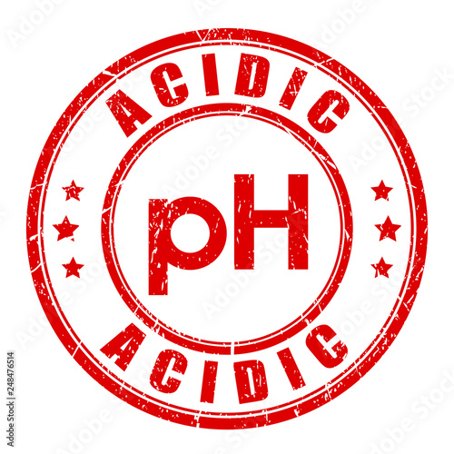 Photo Acidic product vector stamp