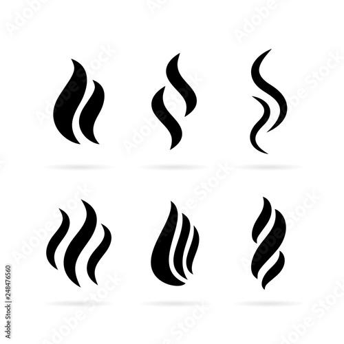 Canvastavla Smoke vector icon