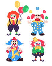 Funny Different Colorful Clown...