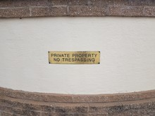 Gold Or Brass Private Property...