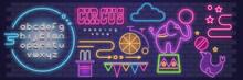 Circus Neon Sign Set
