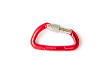 Red Screwgate Carabiner Locked...