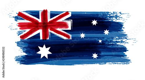 Fototapeta Grunge Australia Flag