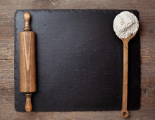 Flour And Rolling Pin